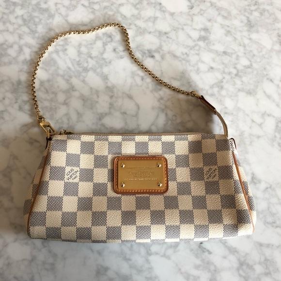 ddc2719ea Louis Vuitton Handbags - LV EVA DAMIER AZUR IVORY/GREY CROSSBODY CLUTCH